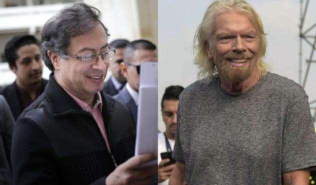 Gustavo Petro y Richard Branson