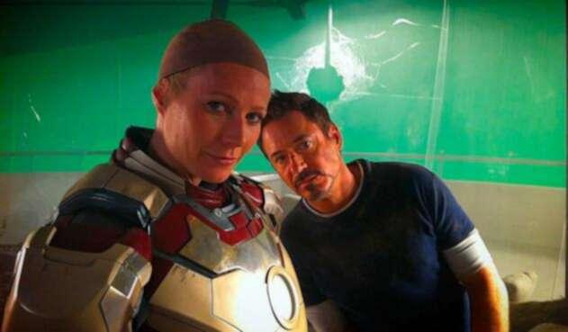 Gwyneth Paltrow junto a Robert Downey Jr.