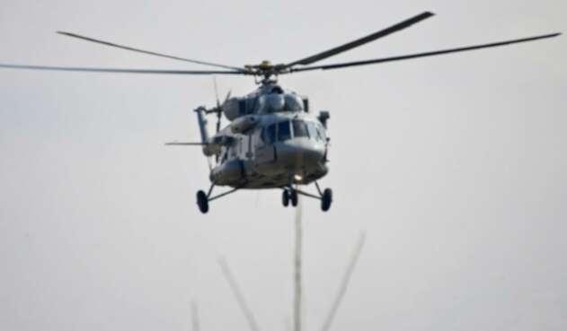 Helicóptero de la India