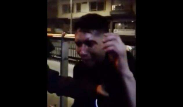 Hombre golpeado por robar en Transmilenio