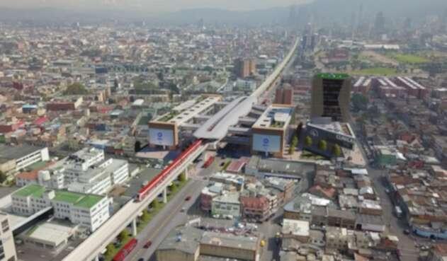 Render metro de Bogotá sector de Hospitales