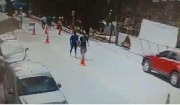 Momento del ataque a agentes de la Polfa, en Arauca