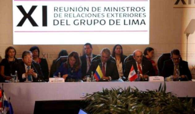 El presidente Iván Duque encabezó la reunión del Grupo de Lima, en Bogotá