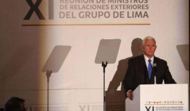 Mike Pence, vicepresidente de EE.UU., intervino en el Grupo de Lima, en Bogotá