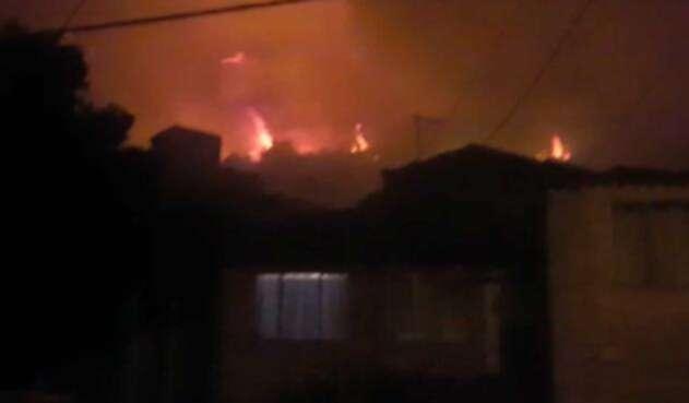 Autoridades atienden incendio en forestal Bogotá