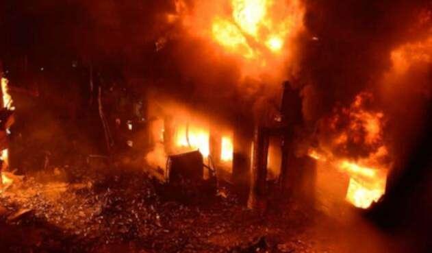 Incendio Bangladés