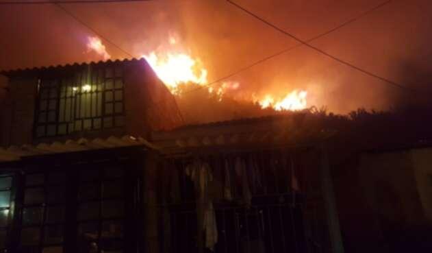 Incendio en el sur de Bogotá