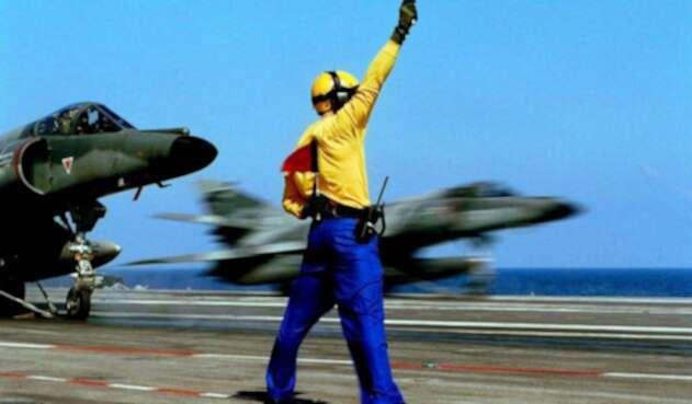 Imagen de referencia de un portaviones estadounidense