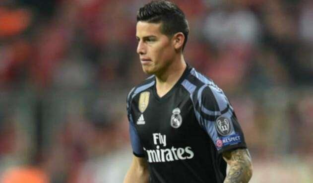 James Rodríguez cuando jugaba con el Real Madrid