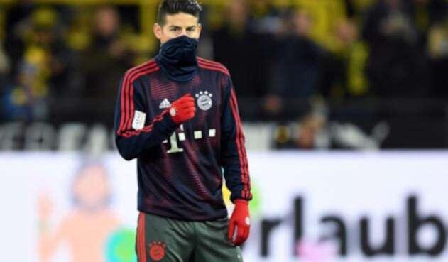 James Rodríguez, con el Bayern Múnich cuando enfrentaron al Dortmund, el 10 de noviembre de 2018