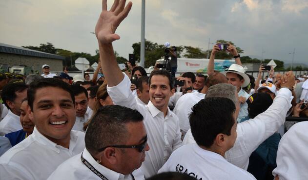 Juan Guaidó en Venezuela Aid Live