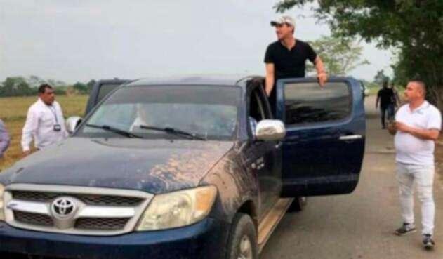 Juan Guaidó ingresando a Colombia