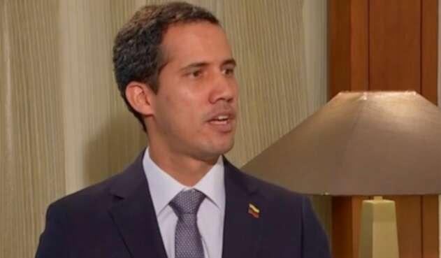 Juan Guaidó, presidente interino de Venezuela, en la entrevista que concedió a Noticias RCN y NTN 24