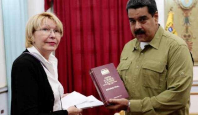 Luisa Ortega, exfiscal general de Venezuela, y Nicolás Maduro
