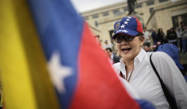 Marcha de Venezolanos en Bogotá