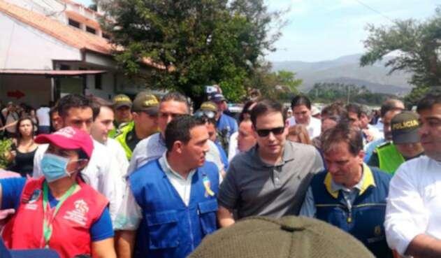 Marco Rubio, senador estadounidense, en Cúcuta