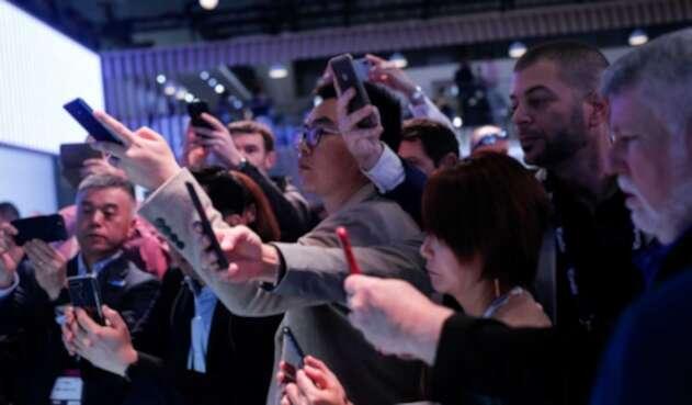 Asistentes al Mobile World Congress
