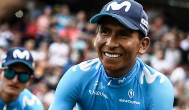 Nairo Quintana durante la presentación del Tour Colombia.