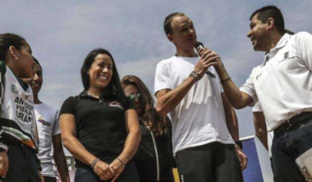 Mariana Pajón y Chris Froome
