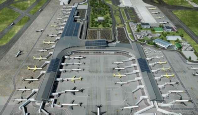 Los páneles solares que estarán en el Aeropuerto Internacional El Dorado