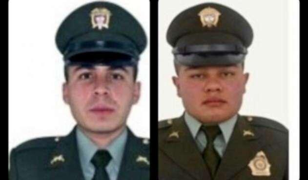 Juan Carlos Barreto Guzmán y Álvaro Iván Marín Marín, policías asesinados en Nariño