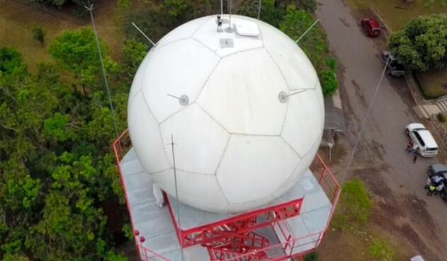 El radar instalado en Barrancabermeja