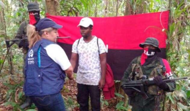 Ángel Mauricio Acevedo, militar liberado por el ELN