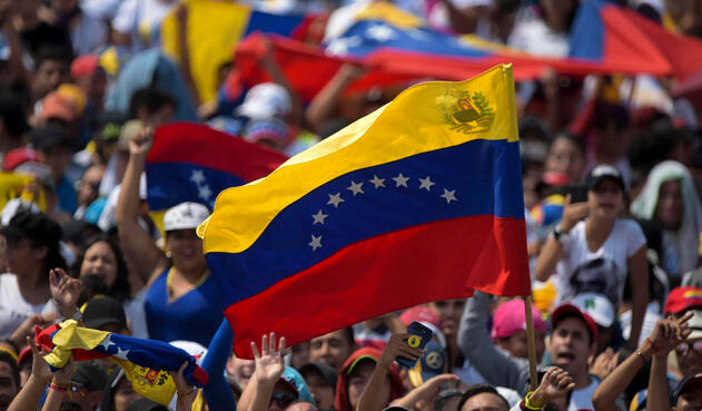 La bandera de Venezuela, presente en el concierto hecho en el puente Tienditas