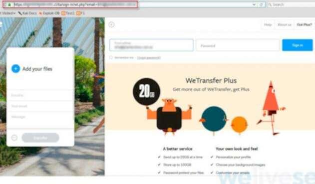 Cibercriminales usan weetransfer para estafar a usuarios