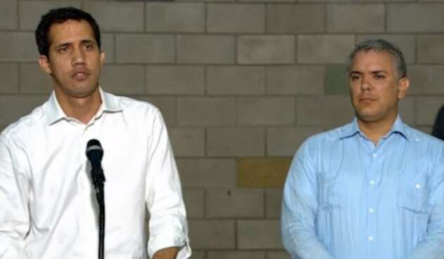 Juan Guaidó e Iván Duque ofrecen una declaración pública