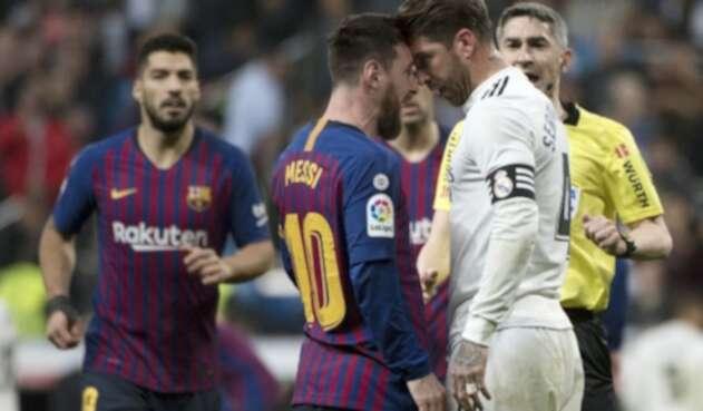 Leo Messi y Sergio Ramos se encaran en un clásico