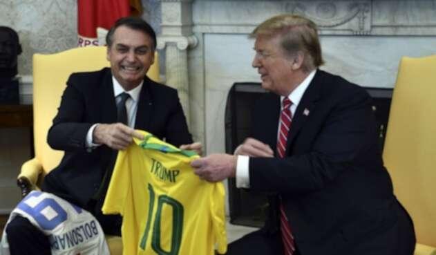 Jair Bolsonaro y Donald Trump.