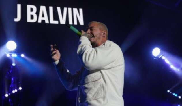 El cantante urbano J Balvin