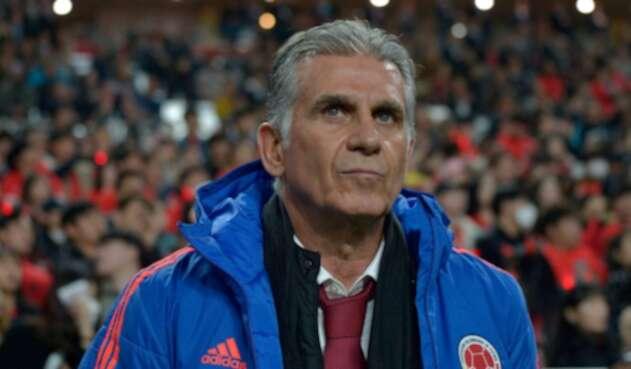 Carlos Queiroz en el partido de Colombia ante Corea del Sur