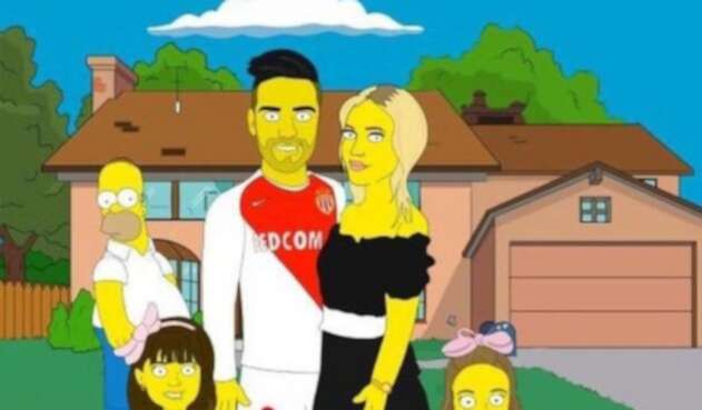 Falcao García, modo Simpsons