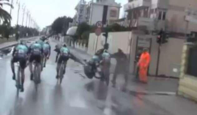 Caída en la Tirreno Adriático