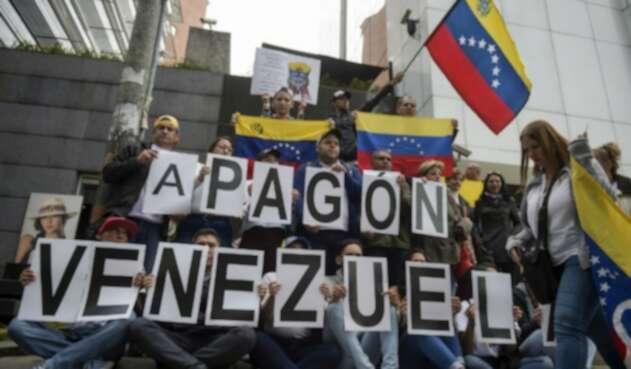 Protestas por apagón en Venezuela
