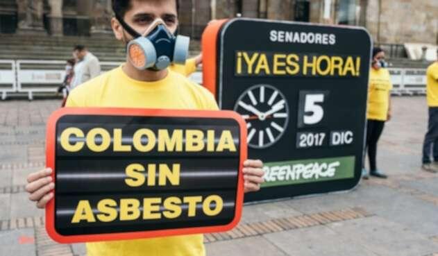 Campaña 'Ya Es Hora - Colombia sin asbesto' de Greenpeace