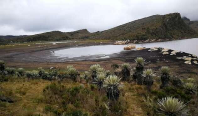 Sequía en la Laguna de los Tunjos, Páramo de Sumapaz