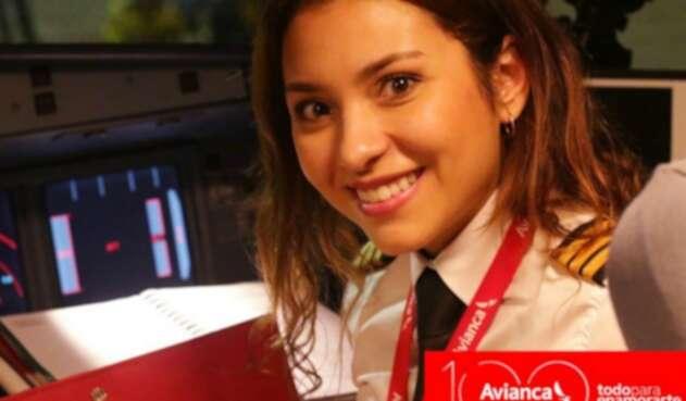Una de las mujeres que sale en la campaña de Avianca