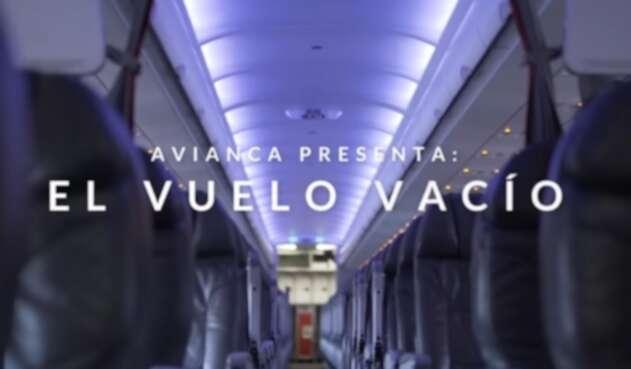 La publicidad de Avianca respecto al vuelo vacío
