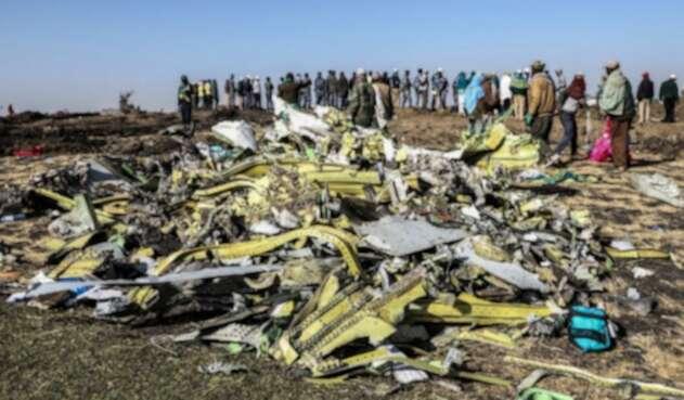 Avión se estrelló en Etiopía