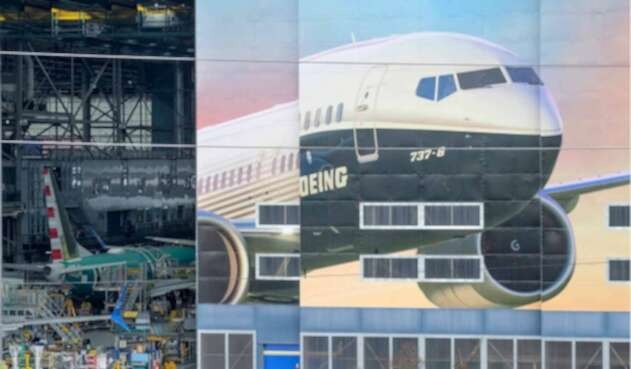 Vista general de un Boeing 737 en su proceso de ensamblaje, en la fábrica de Renton, a las afueras de Seattle (Washington)