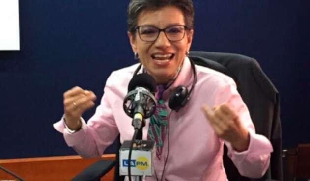 Claudia López, candidata a la Alcaldía de Bogotá