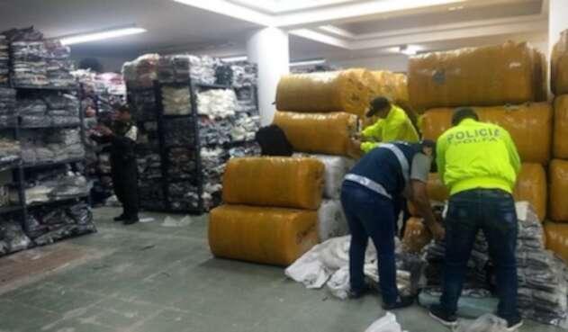 Incautación de prendas de contrabando