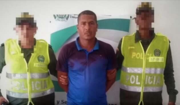 Rafael Julio Cuadrado, capturado en Coveñas