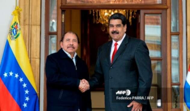 Daniel Ortega y Nicolás Maduro reunidos en Caracas el 5 de marzo de 2018