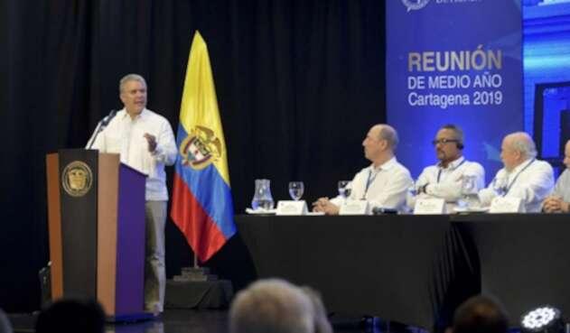 El presidente Iván Duque, desde Cartagena