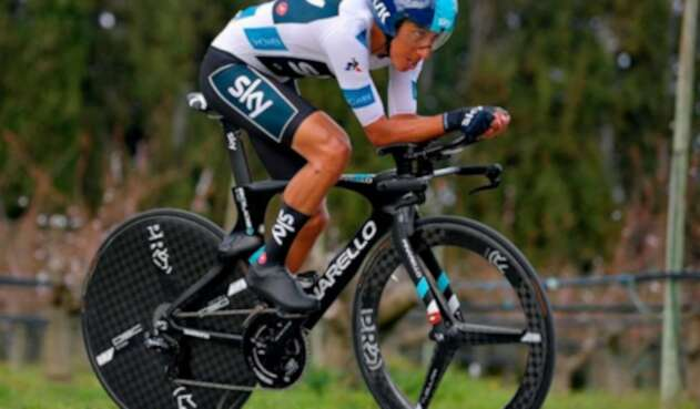 Egan Bernal, ciclista del Sky Tem