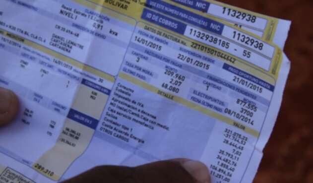 facturas de energía
